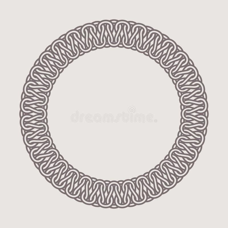 Marco redondo del vintage para los logotipos Agremán que teje original stock de ilustración