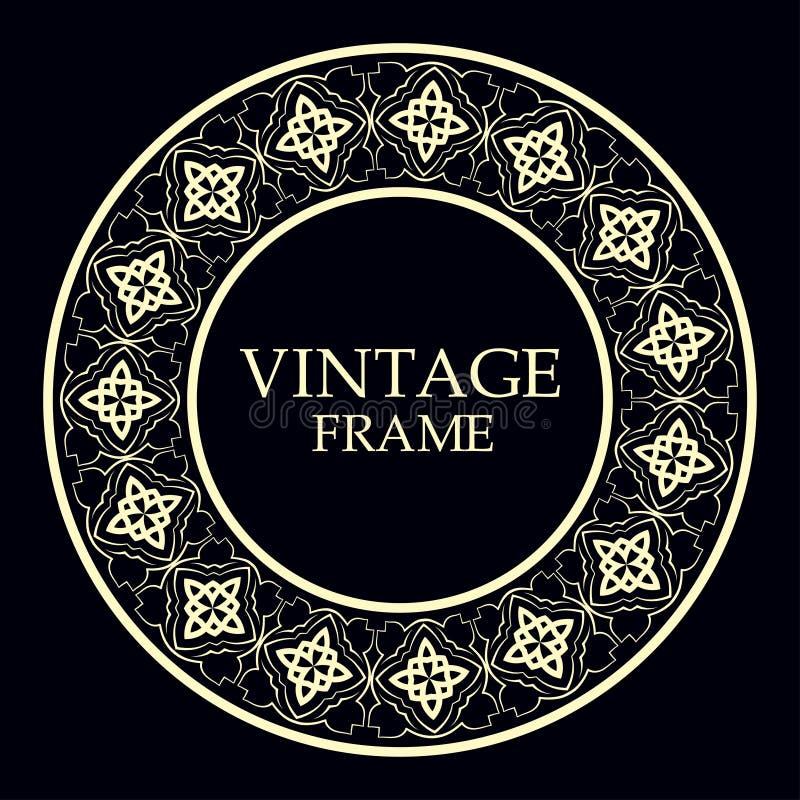 Marco redondo ornamental fotografía de archivo libre de regalías