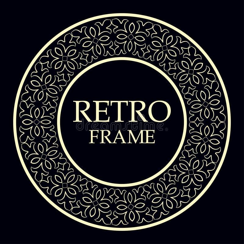 Marco redondo ornamental fotos de archivo