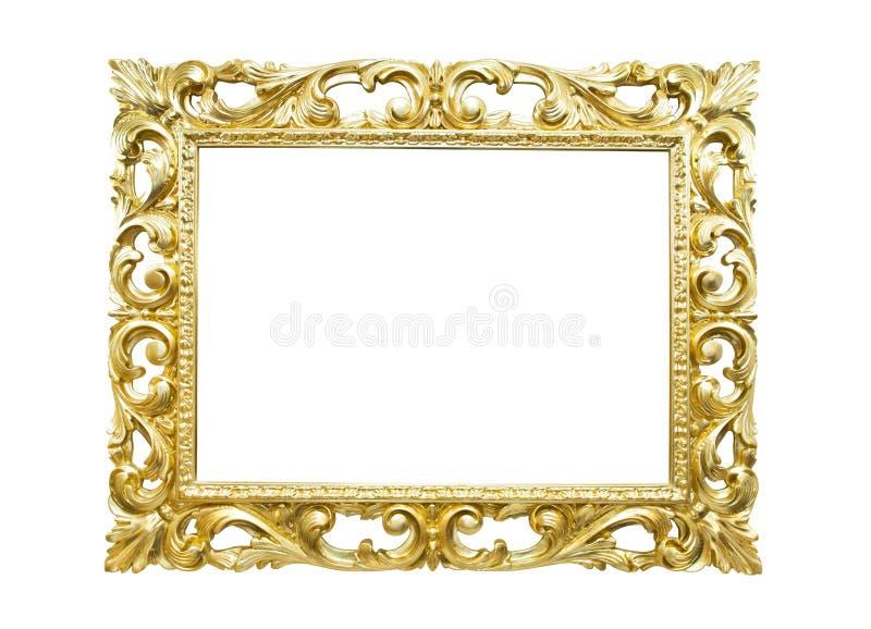 Marco retro del oro viejo foto de archivo libre de regalías