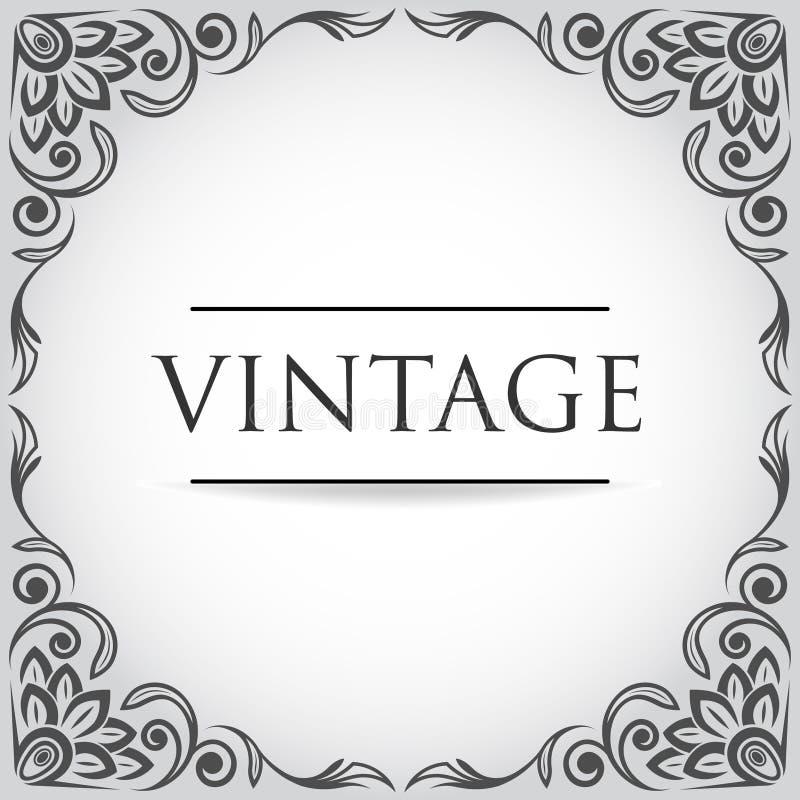 Marco Del Vintage Del Vector Ilustración del Vector - Ilustración de ...