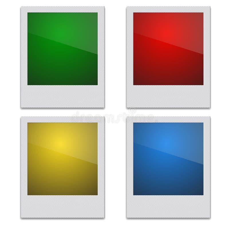Marco retro determinado Polaroid de la foto en blanco ilustración del vector