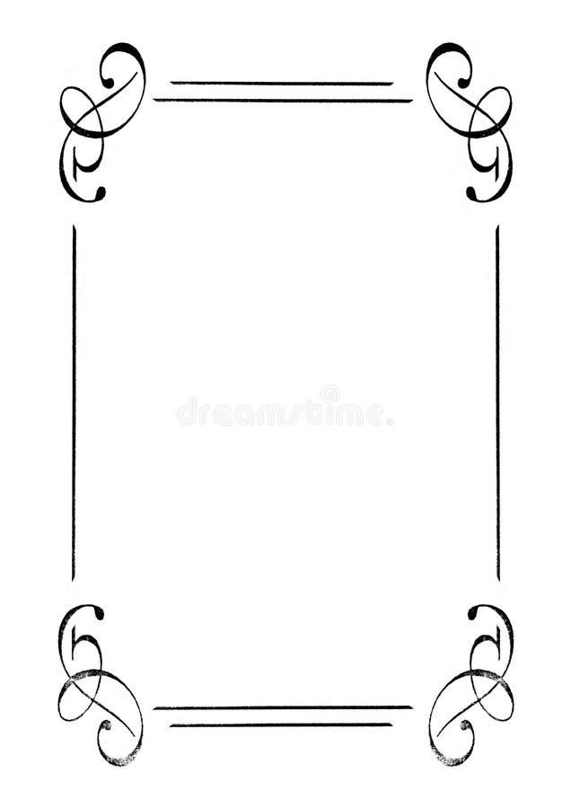 marco Retro-labrado. stock de ilustración