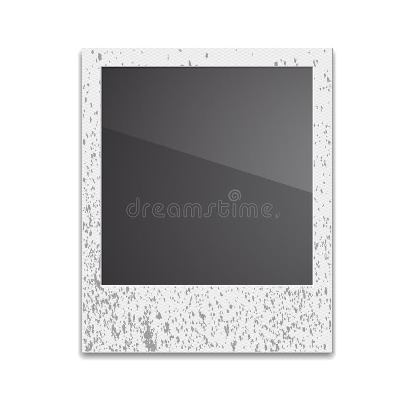 Marco retro Polaroid de la foto en el fondo blanco ilustración del vector