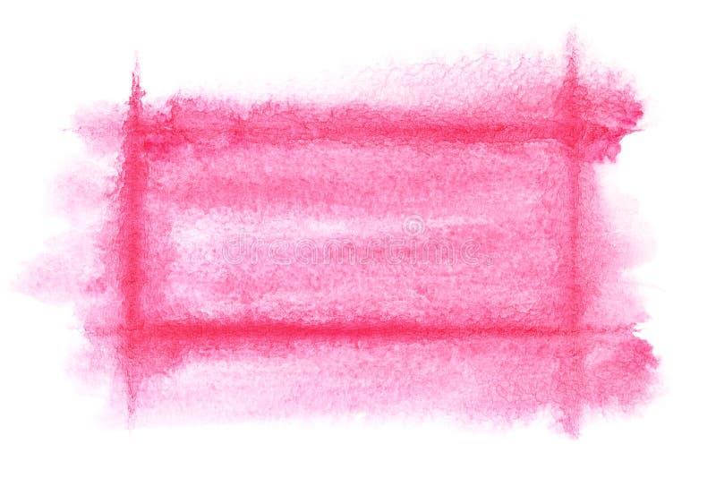 Marco rojo claro de la acuarela libre illustration