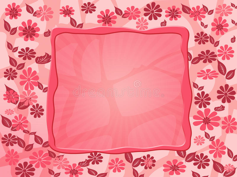 Marco rojo de la flor fotos de archivo libres de regalías
