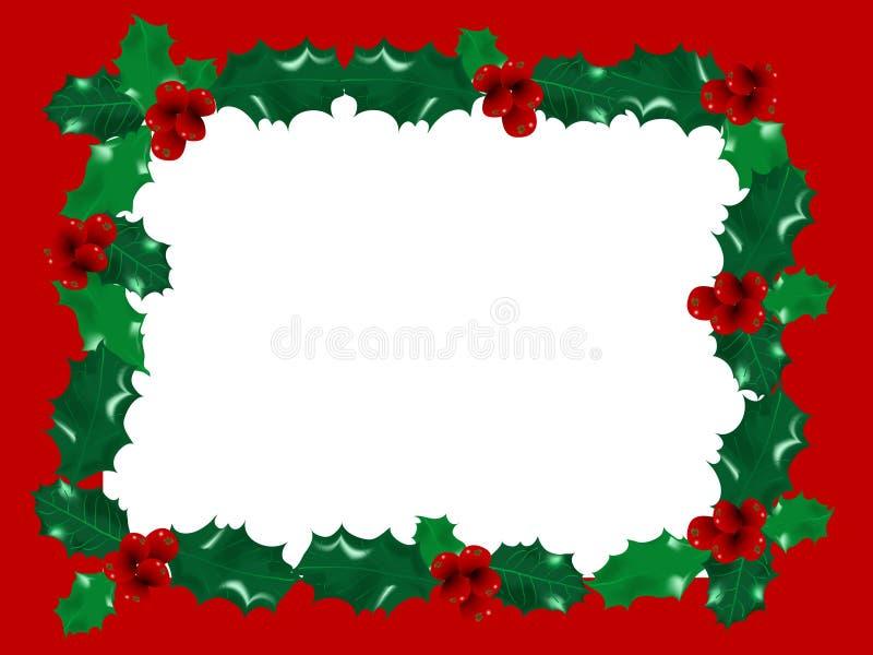 Marco rojo de la Navidad stock de ilustración