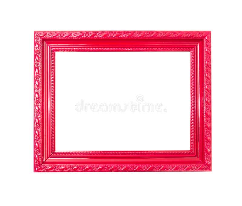 Marco rojo de la vendimia en el fondo blanco fotografía de archivo