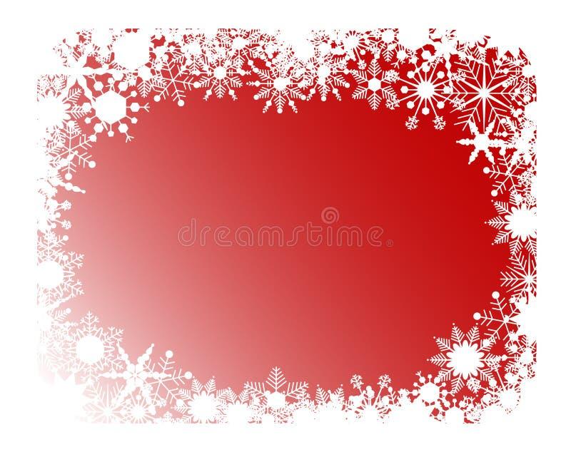 Marco rojo de los copos de nieve libre illustration