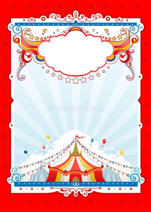 Marco rojo del circo ilustración del vector