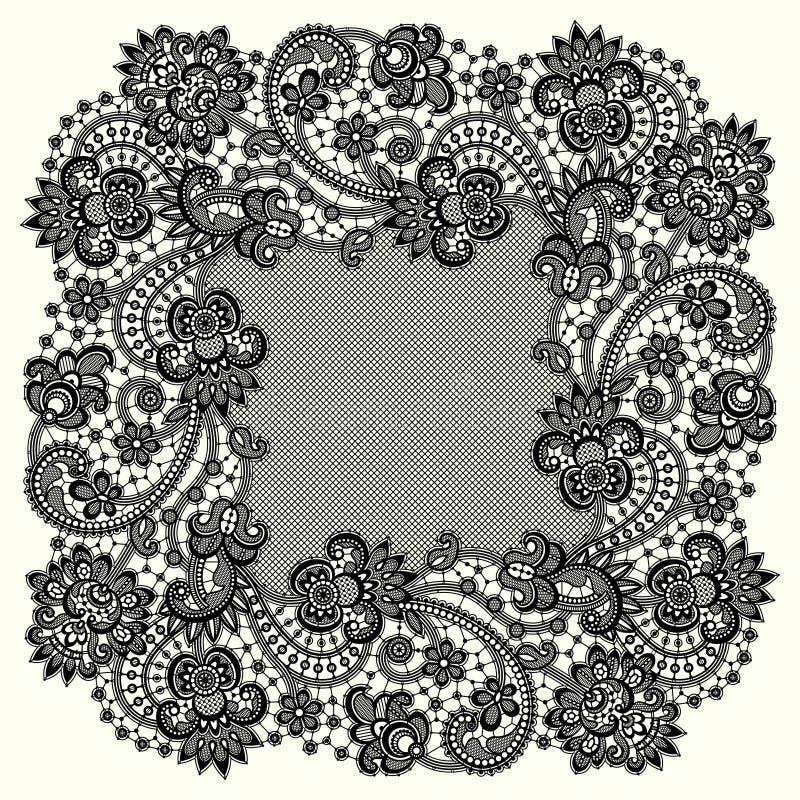 Marco romántico del cordón libre illustration