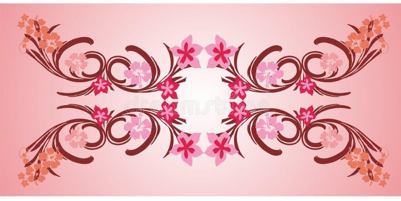 marco rosado 01 de la flor libre illustration