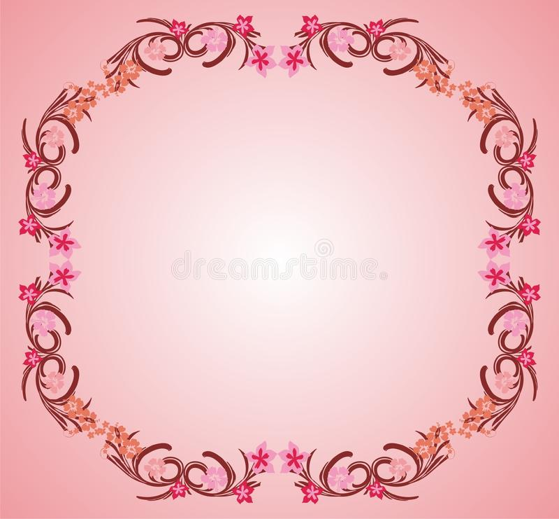 Marco rosado 03 de la flor libre illustration