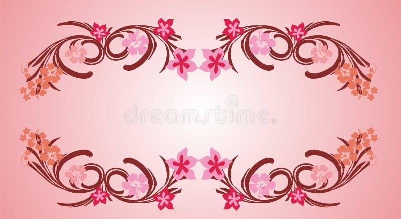 Marco rosado 06 de la flor libre illustration