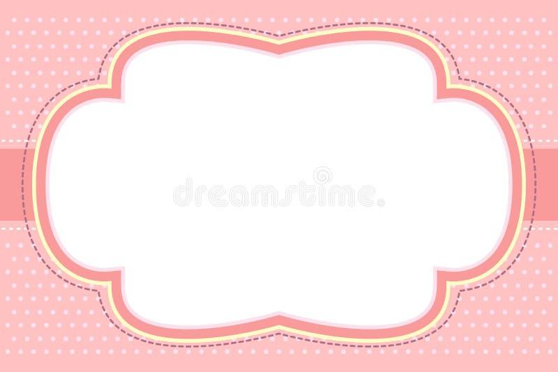 Marco rosado adornado de la burbuja libre illustration