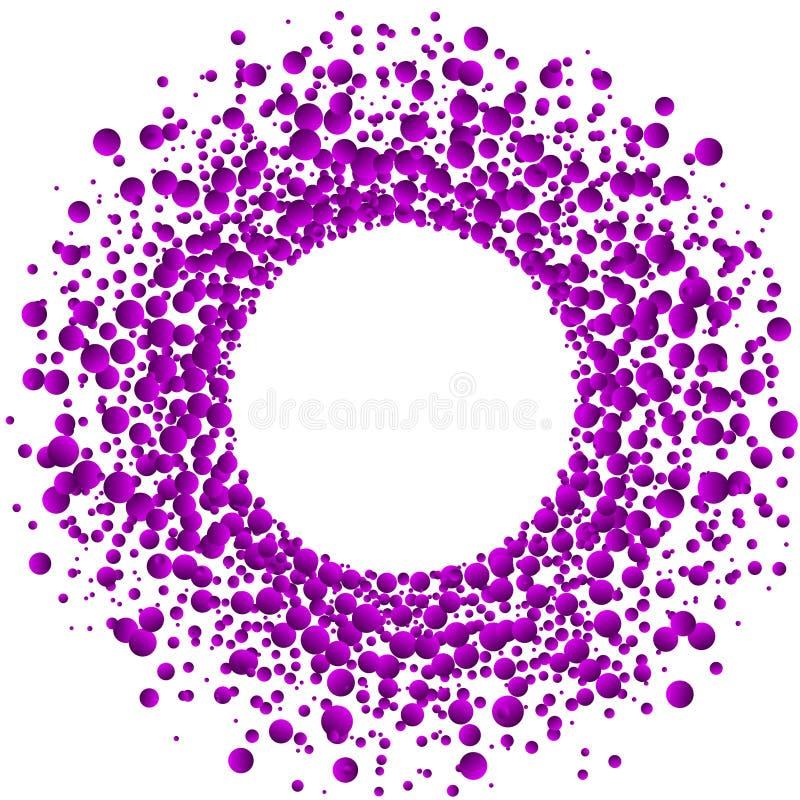 Marco rosado de la circular de las bolas de goma de la explosión imagen de archivo libre de regalías