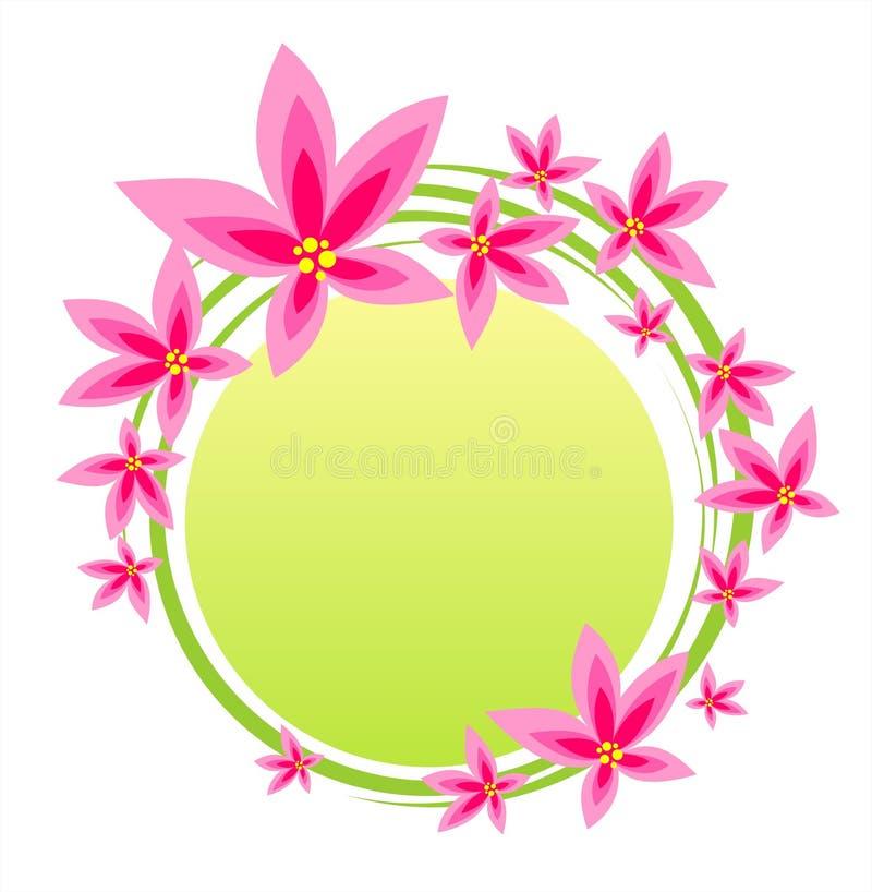 Marco rosado de la flor stock de ilustración