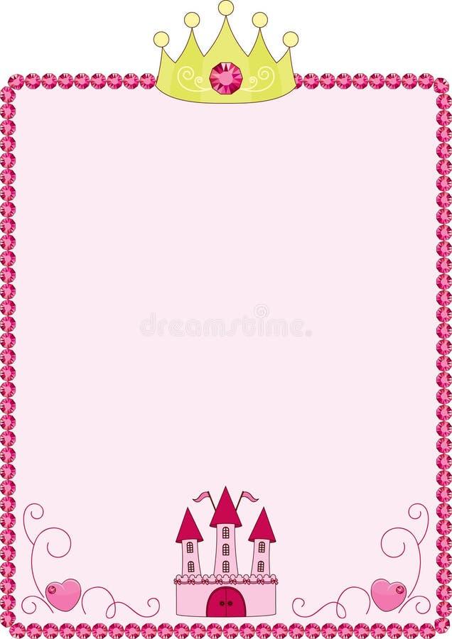 Marco rosado de la princesa stock de ilustración