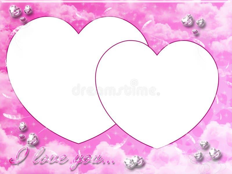 Marco rosado de la tarjeta del día de San Valentín libre illustration