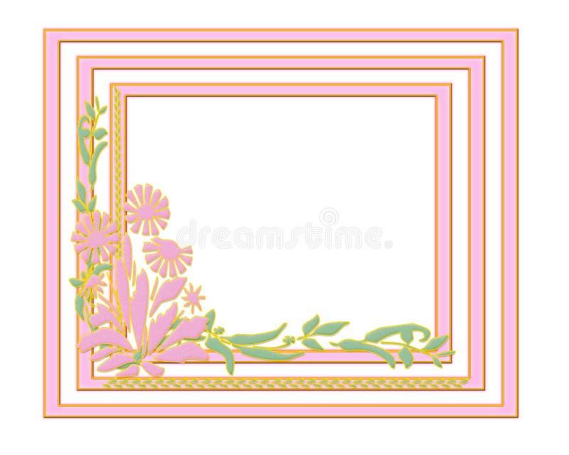 Marco rosado del resorte stock de ilustración. Ilustración de marco ...