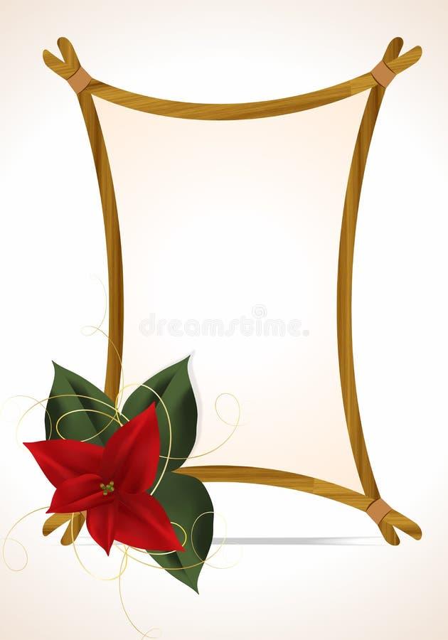 Marco simple de la Navidad stock de ilustración