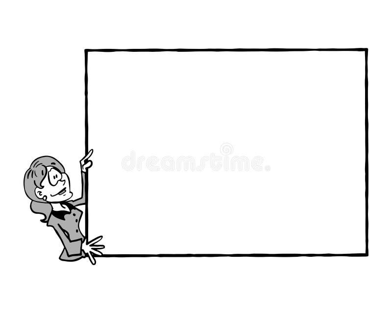 0011 marco Sophie BW stock de ilustración