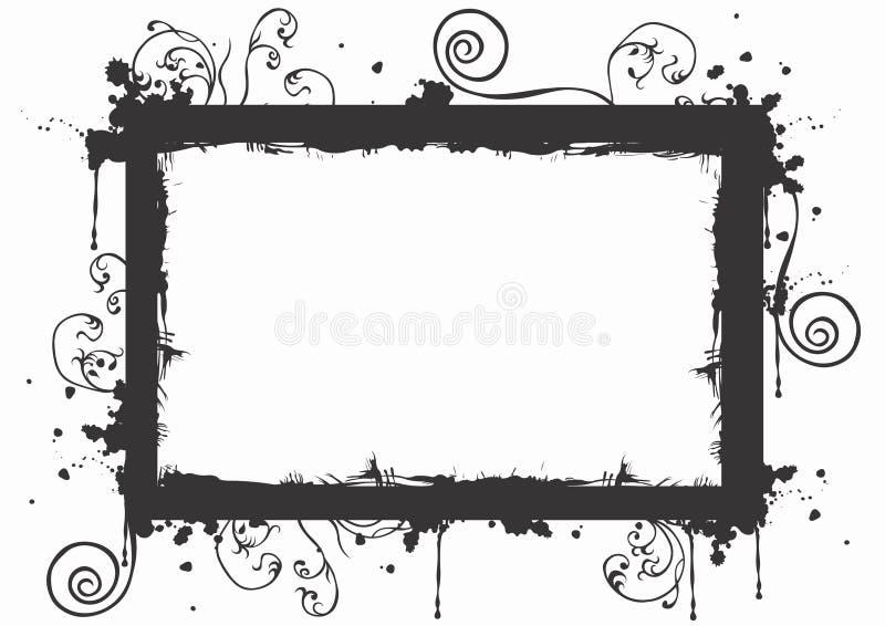 Marco sucio stock de ilustración
