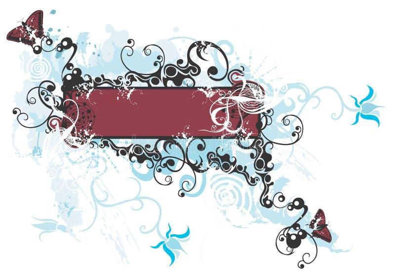 Marco sucio ilustración del vector