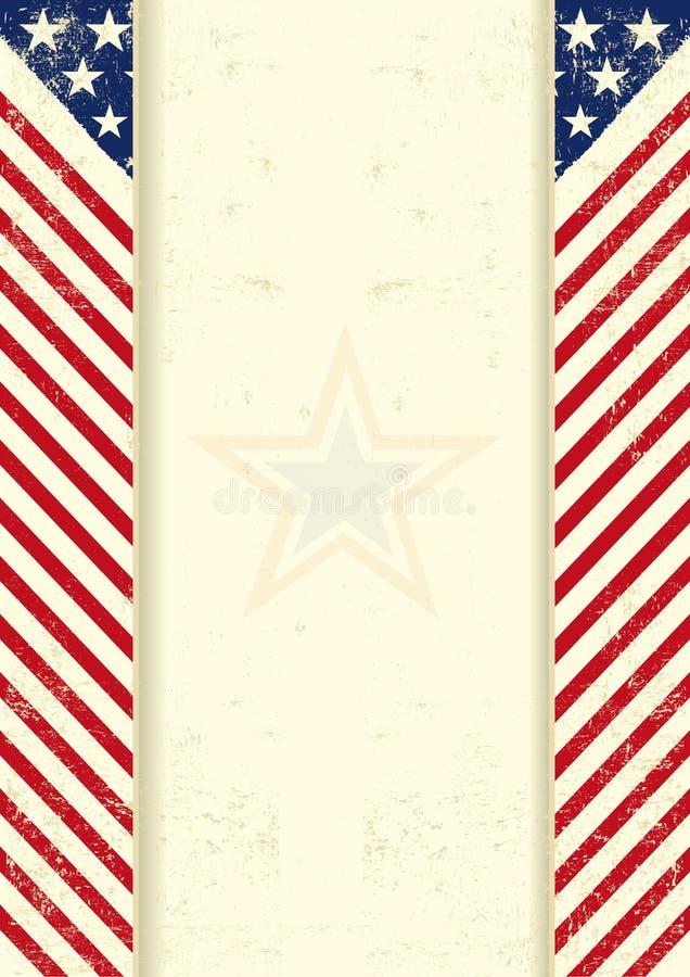 Marco sucio americano ilustración del vector