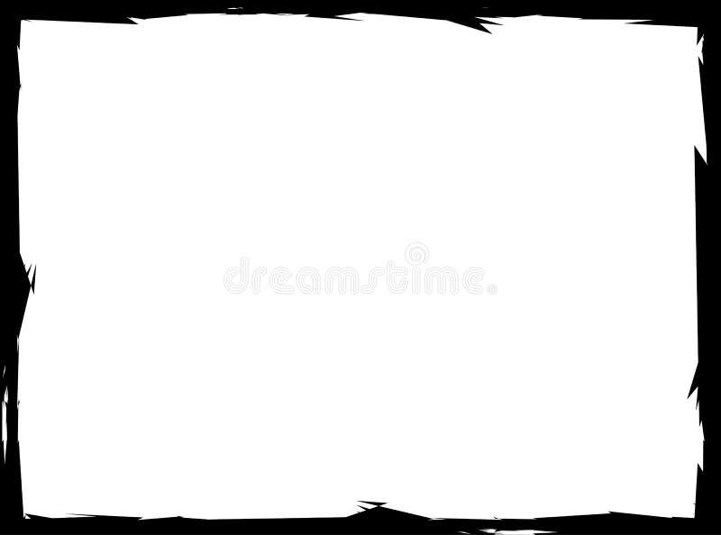 Marco sucio rectangular, frontera sucia con efecto pintado libre illustration
