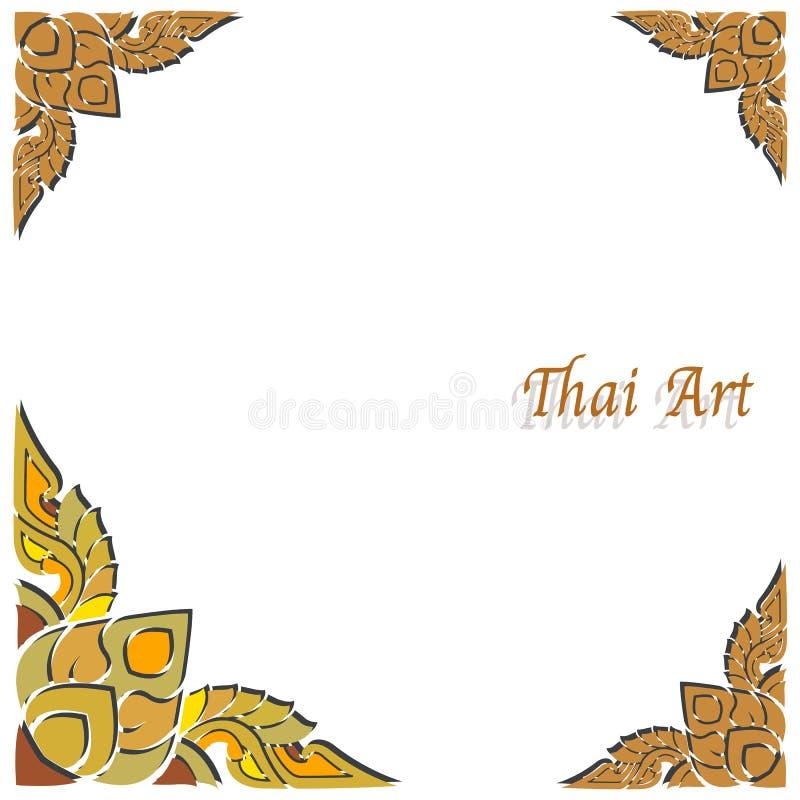 Download Marco Tailandés Del Arte Del Vector Ilustración del Vector - Ilustración de blanco, fondo: 42429245
