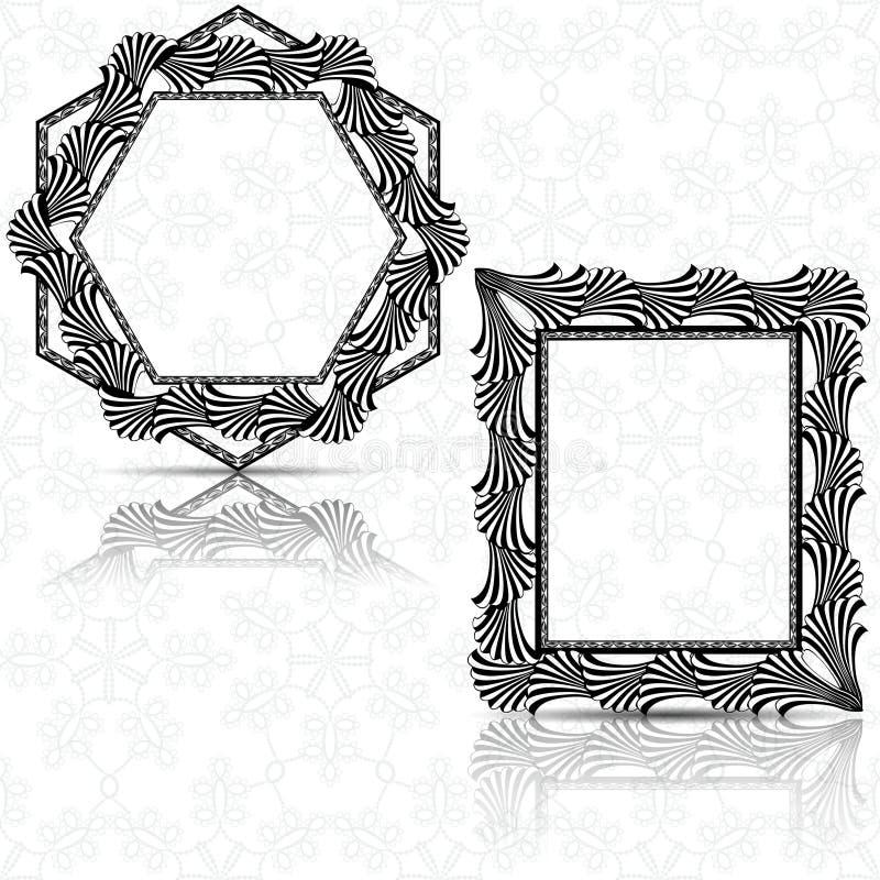 Marco tallado silueta con la sombra ilustración del vector