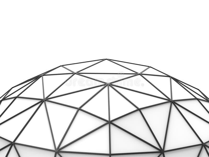 Marco triangular del negro bajo del polígono libre illustration