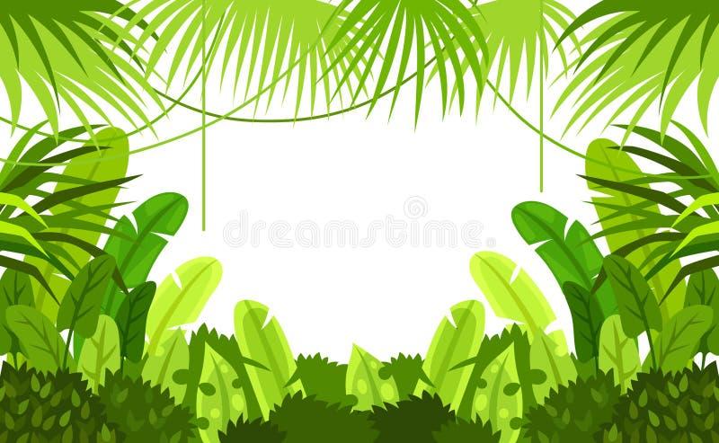 Marco tropical del bosque Niño Fondo del vector Ilustración stock de ilustración