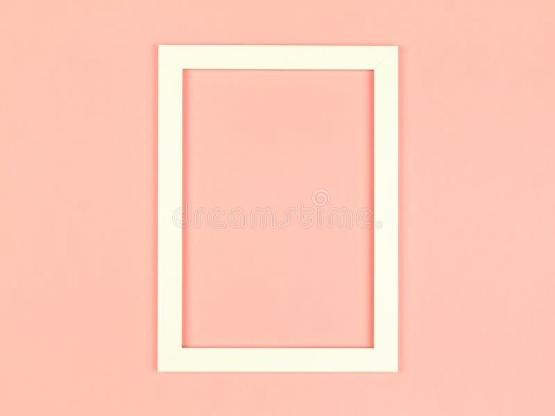 Marco vacío en fondo coloreado en colores pastel texturizado foto de archivo libre de regalías