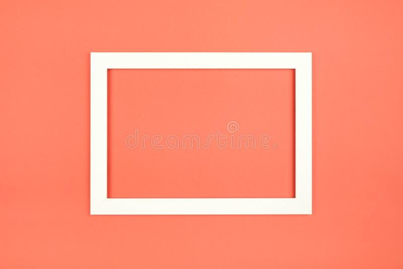 Marco vacío en fondo coloreado en colores pastel texturizado fotografía de archivo libre de regalías
