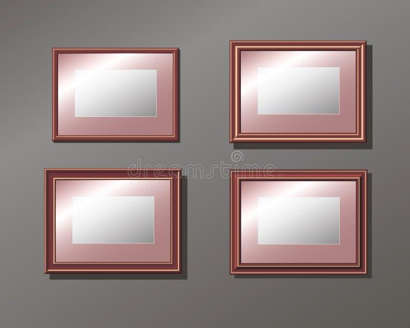Marco vacío horizontal determinado en la pared imágenes de archivo libres de regalías