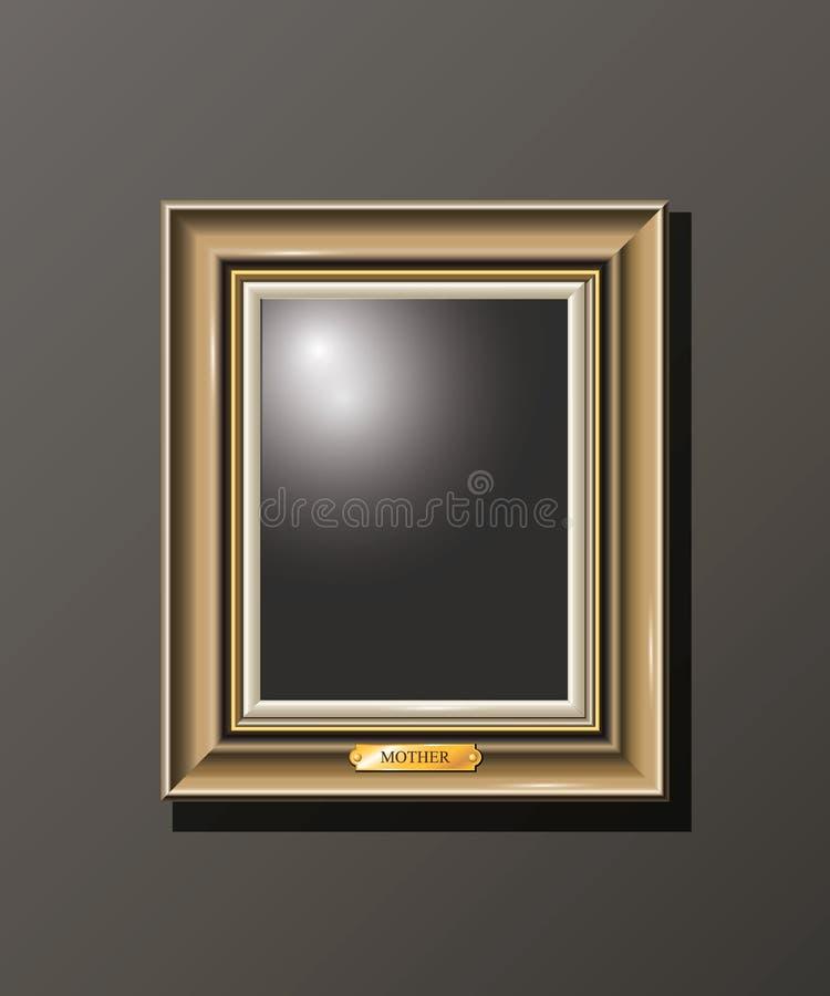 Marco vacío horizontal determinado en la pared fotografía de archivo