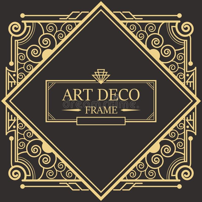 Marco vector03 de Art Deco Border ilustración del vector