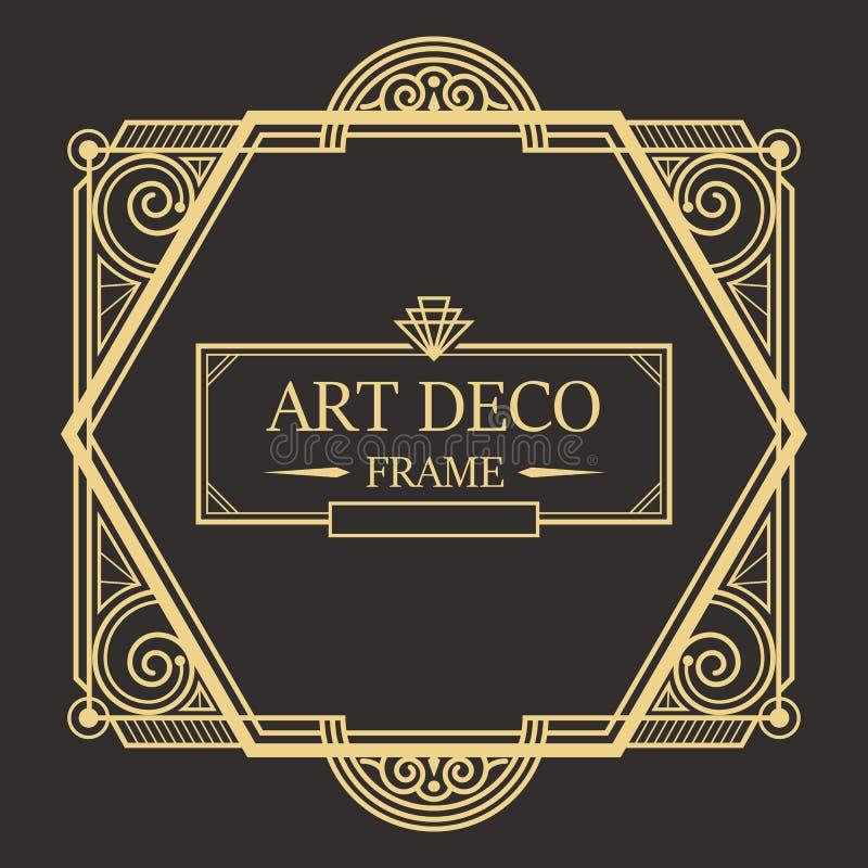 Marco vector02 de Art Deco Border ilustración del vector