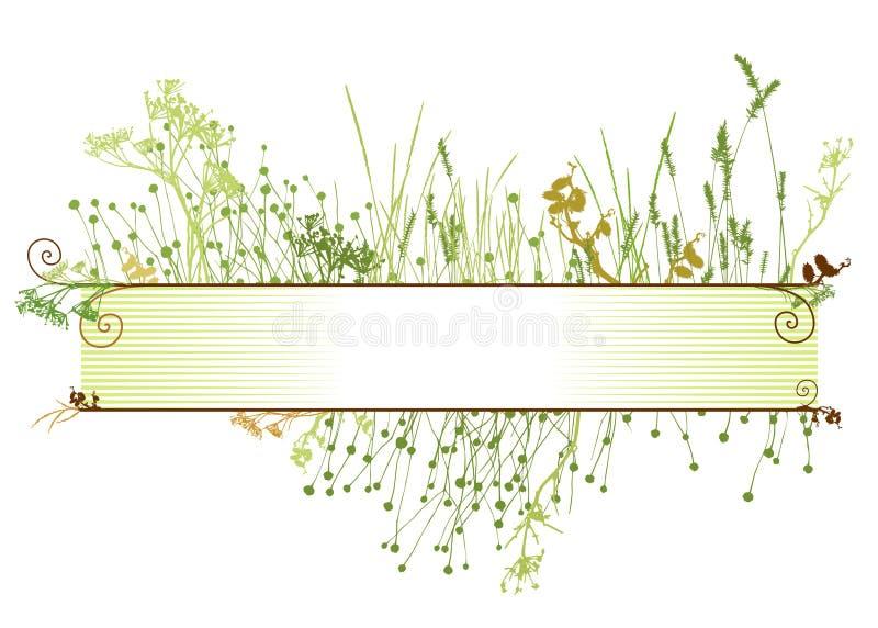 Marco/vector de la hierba ilustración del vector