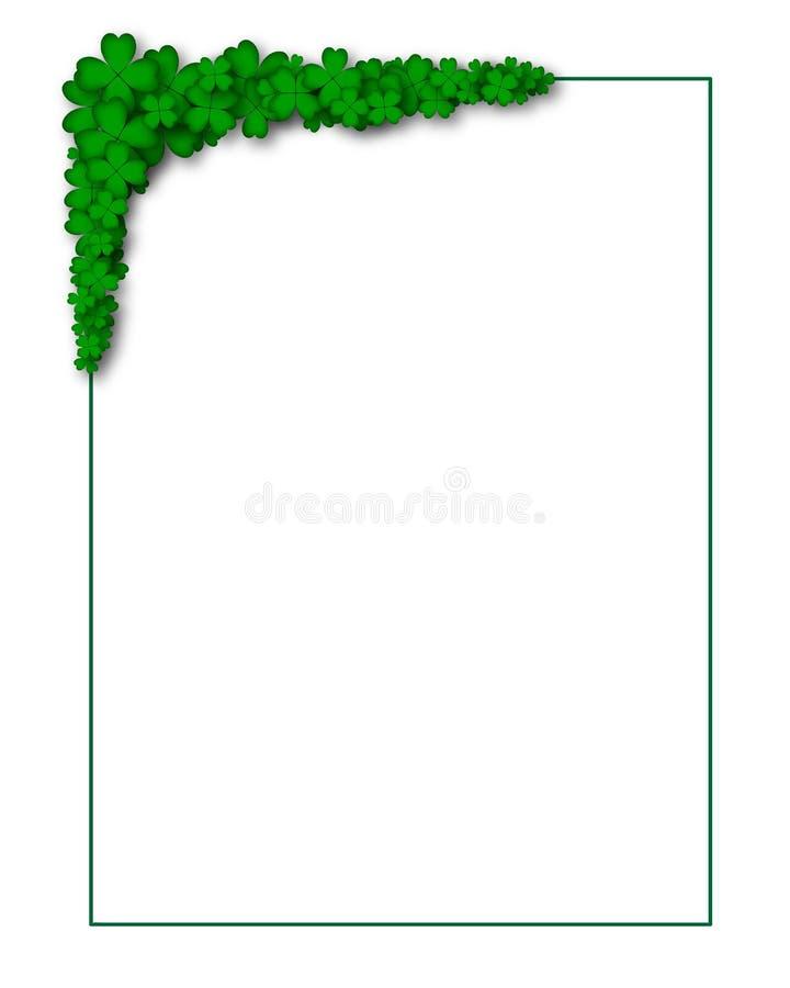 Marco verde de cuatro-hojas libre illustration