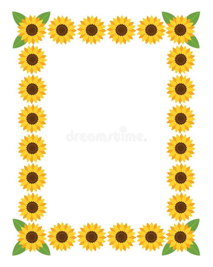 Marco Vertical Con Las Flores Ilustración del Vector - Ilustración ...