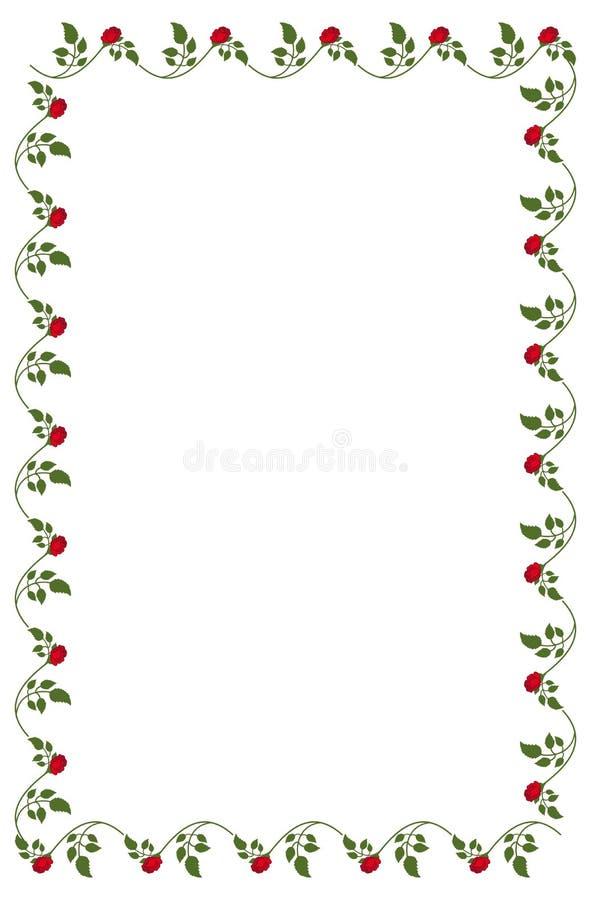 Marco Vertical Con Las Rosas Rojas Foto de archivo - Imagen de ...
