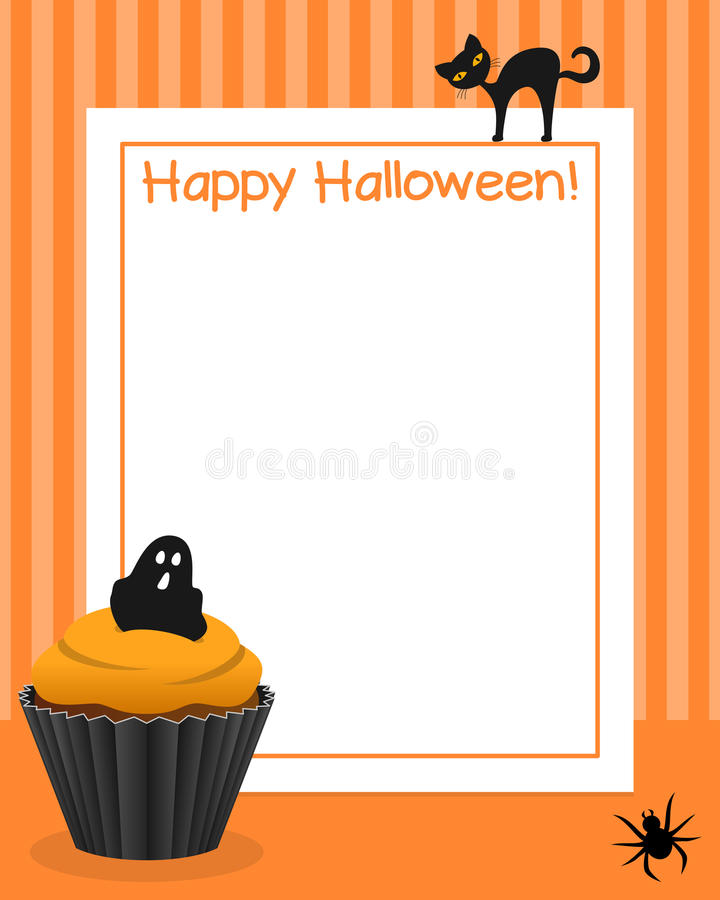 Marco vertical de la magdalena de Halloween [1] libre illustration
