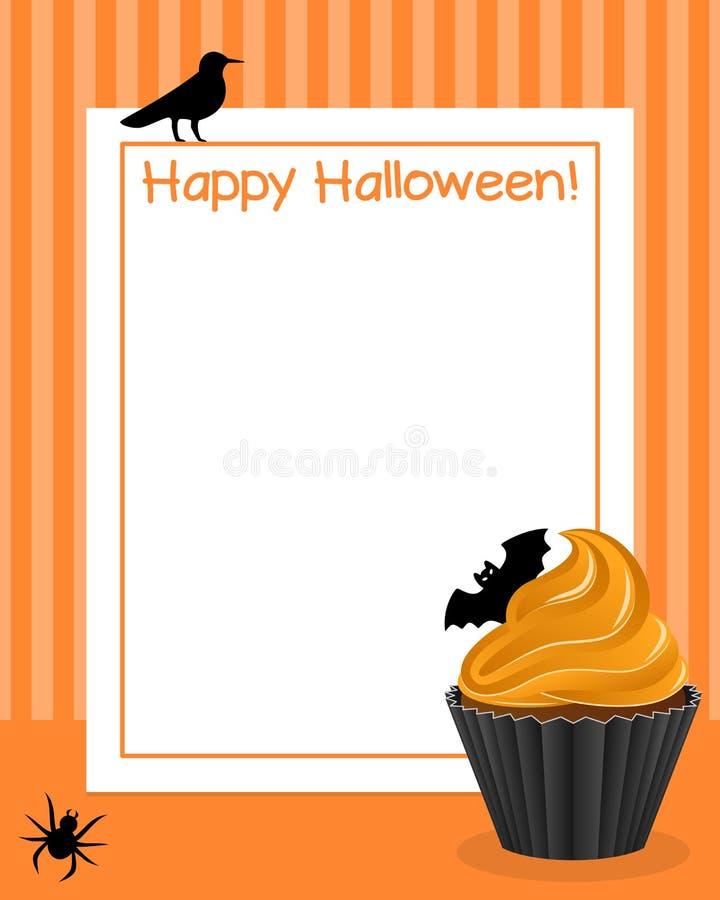 Marco vertical de la magdalena de Halloween [3] stock de ilustración