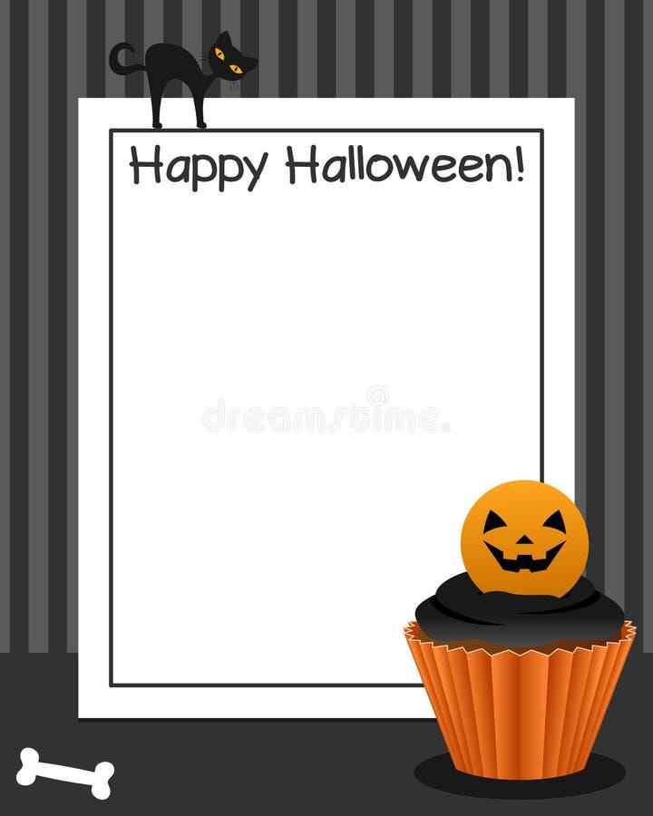 Marco vertical de la magdalena de Halloween [4] stock de ilustración