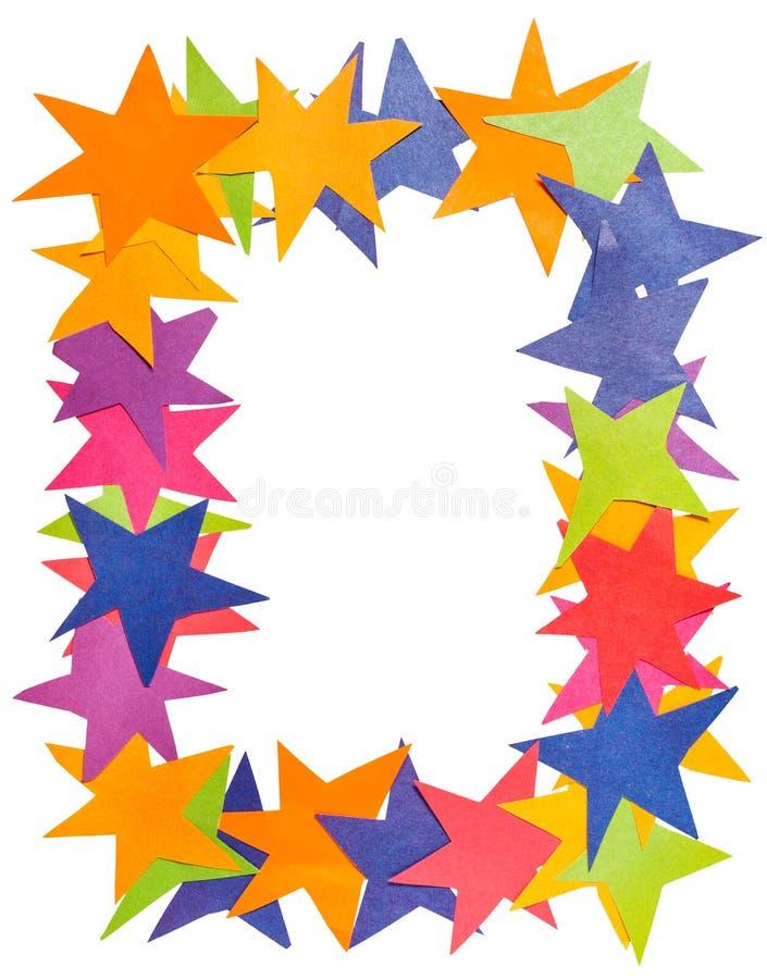 Marco vertical de las estrellas de papel imagen de archivo
