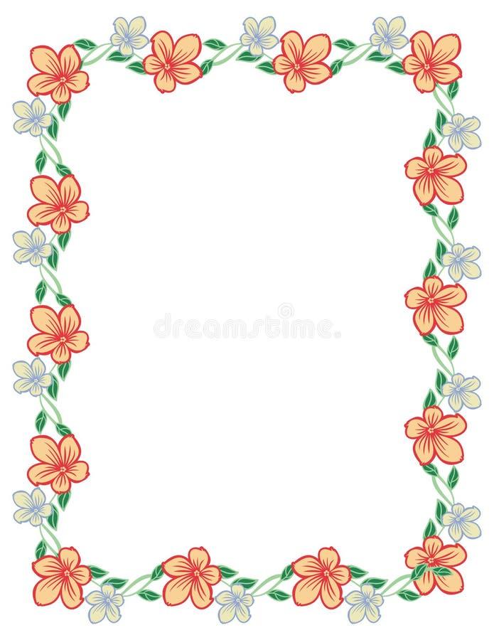 Marco Vertical Del Color Con Las Flores Abstractas Foto de archivo ...