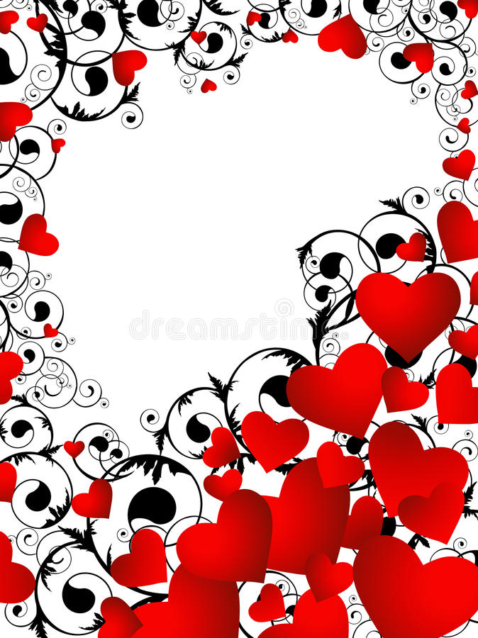 Marco vertical del corazón ilustración del vector. Ilustración de ...